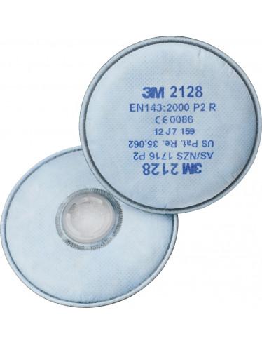 3M2128 Partikelfilter mit Aktivkohle P2
