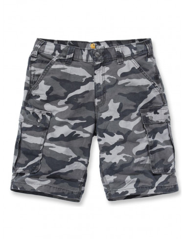 RUGGED CARGO CAMO SHORT, Rugged Gray Camo