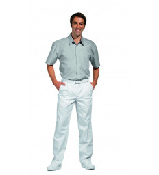 Bundfaltenhose lang, weiß