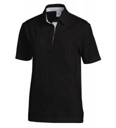 Polo 1/2 Arm schwarz-silber
