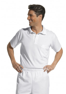 Polo-Pique-Shirt, weiß