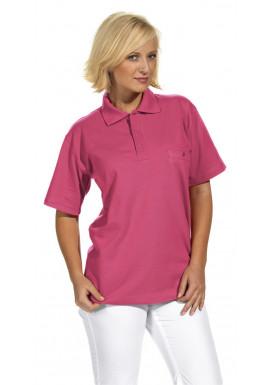 Polo-Pique-Shirt, dunkelrosa