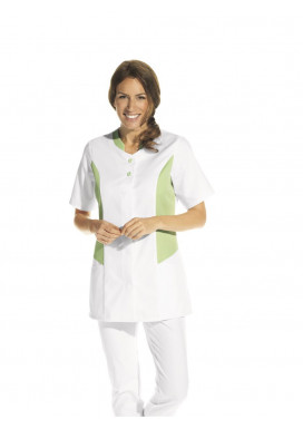 Hosenkasack 1/2 Arm, weiß/hellgrün