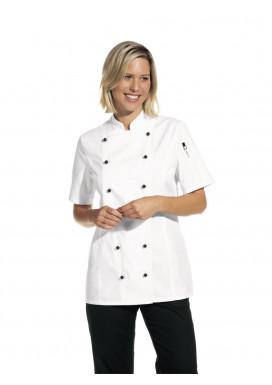 Damen Kochjacke 1/2 Arm weiß