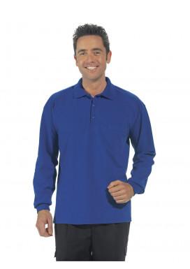 Polo-Shirt Langarm, königsblau