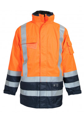 ELKA Securetech Multinorm Jacke, Warnorange-Marine