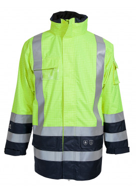 ELKA Securetech Multinorm Jacke, Warngelb-Marine