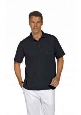 Polo-Pique-Shirt, schwarz