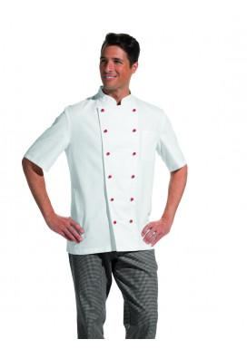 Damen und Herren Kochjacke 1/2 Arm weiß