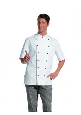 Damen und Herren Kochjacke 1/2 Arm weiß Gr. 90-110