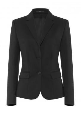 Damen-Blazer, Schwarz, Basic Comfort Fit