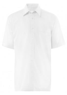 Herren-Hemd Kurzarm, Weiß, Comfort Fit