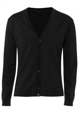Herren Cardigan, Schwarz, Regular Fit