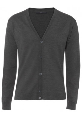 Herren Cardigan, Anthrazit, Regular Fit