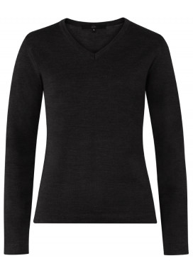 Damen Pullover, Schwarz, Regular Fit