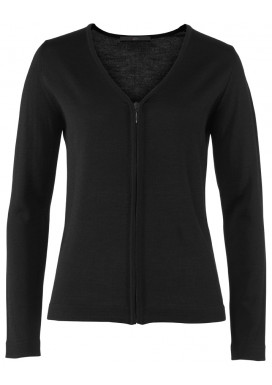 Damen Strickjacke, Schwarz, Regular Fit
