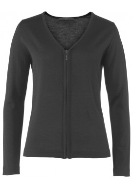Damen Strickjacke, Anthrazit, Regular Fit