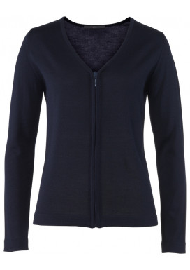 Damen Strickjacke, Marine, Regular Fit