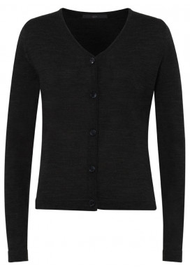 Damen Cardigan, Schwarz, Regular Fit