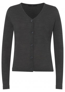 Damen Cardigan, Anthrazit, Regular Fit