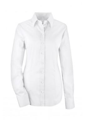 Damen-Bluse Premium Slim Fit, weiß