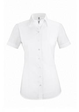 Damen-Bluse Basic Kurzarm Regular Fit, weiß