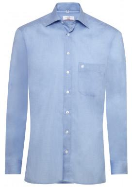 Herren-Hemd Regular Fit, Fil á Fil Bleu, Premium