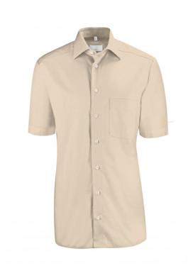 Herren-Hemd Kurzarm Regular Fit, beige