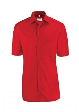 Herren-Hemd Kurzarm Regular Fit, rot