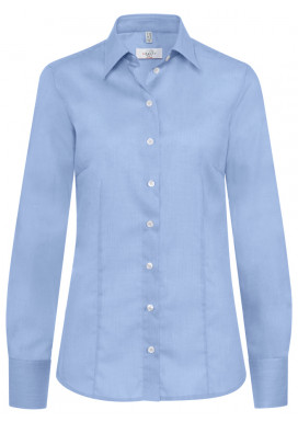 Damen-Bluse Regular Fit, Fil á Fil Bleu, Premium