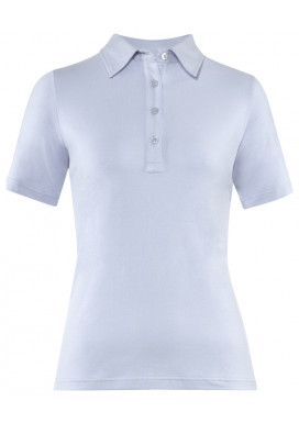 Damen-Polo Kurzarm, Bleu, Regular Fit