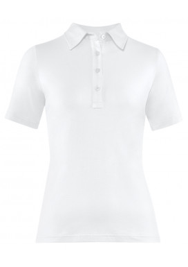 Damen-Polo Kurzarm, Weiß, Regular Fit