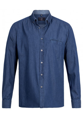 Greiff Herren Hemd, Denim Blue Denim