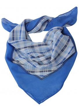Tuch bedruckt Kariert-Bleu