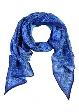 Bedruckter Greiff Schal Paisley-Blau