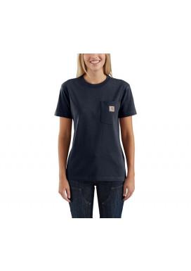 Carhartt Women's Pocket SS T-Shirt, Navy