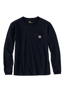 Carhartt Women's Pocket LS T-Shirt, schwarz