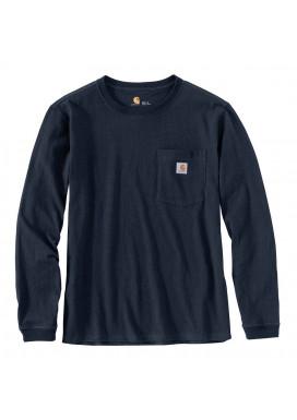 Carhartt Women's Pocket LS T-Shirt, Navy