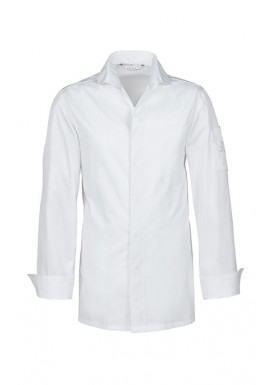 GREIFF Chefkochjacke Langarm, Slim Fit, Weiß
