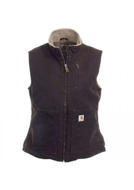 Carhartt Women's Sandstone Mock Vest, Dark Brown