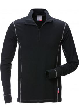 Flame Zipper Langarm T-Shirt 7029 MOF, Schwarz