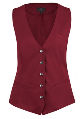 Damen Weste Bordeaux