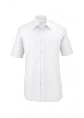 Herren Kurzarm Hemd Weiß
