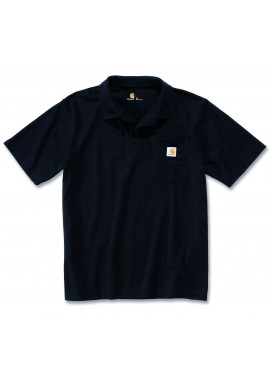 Carhartt WORK POCKET POLO S/S, Schwarz