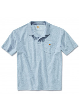 Carhartt WORK POCKET POLO S/S, Heather Grey