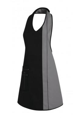 Damen-Latzschürze Schwarz-Silber