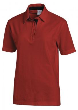 Polo 1/2 Arm rot/schwarz