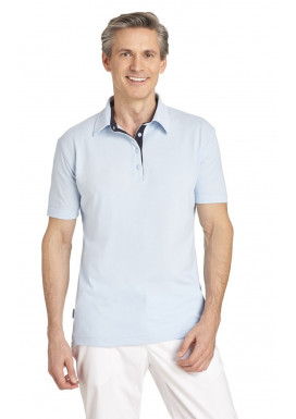 Polo 1/2 Arm Hellblau-Marine