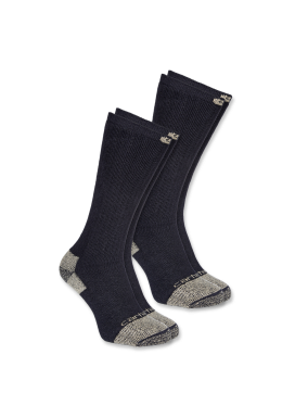 Carhartt STEEL TOE BOOT SOCK 2-PACK, BLACK
