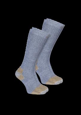 CARHARTT STEEL TOE BOOT SOCK 2-PACK, grey